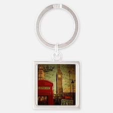 london landmark red telephone booth Keychains