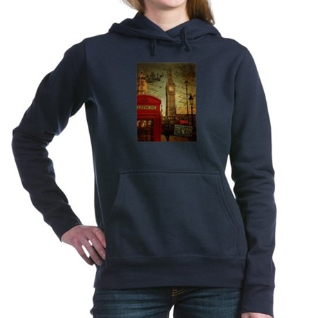 london landmark red telephone booth Women's Hooded