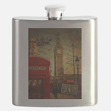 london landmark red telephone booth Flask