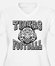 Tigers Football Plus Size T-Shirt