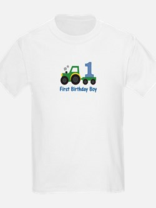1st Birthday Tractor T-Shirt