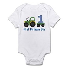 1st Birthday Tractor Infant Bodysuit