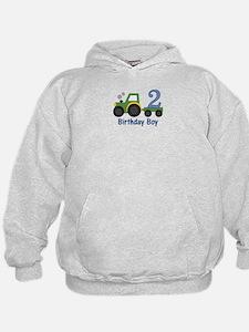 2nd Birthday Tractor Hoodie