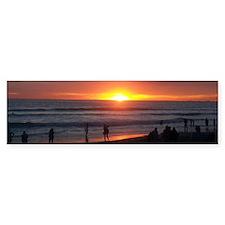 Oceanside Sunset Landscape Bumper Sticker