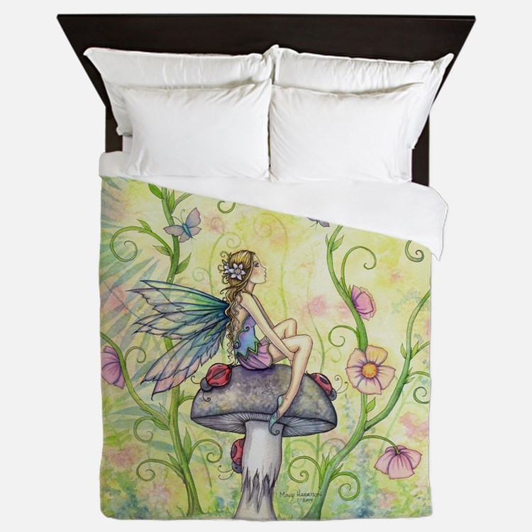 A Happy Place Flower Fairy and Ladybug Queen Duvet
