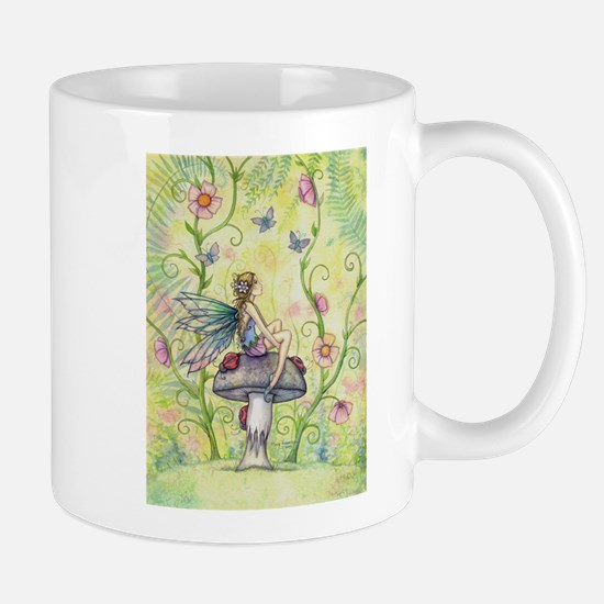 A Happy Place Flower Fairy and Ladybug Mugs
