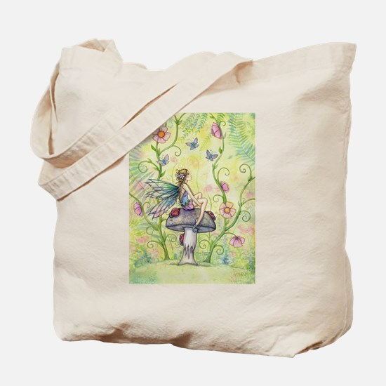 A Happy Place Flower Fairy and Ladybug Tote Bag
