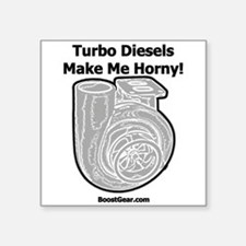 Turbo Diesels Make Me Horny for WHITE.png Sticker