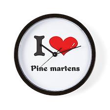 I love pine martens  Wall Clock