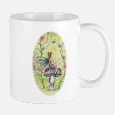 A Happy Place Flower Fairy and Ladybug Art Mugs