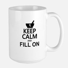 Keep Calm Fill On Large Mug