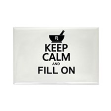 Keep Calm Fill On Rectangle Magnet (10 pack)
