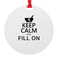 Keep Calm Fill On Ornament