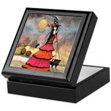 A Halloween Stroll Witch Fantasy Art Keepsake Box