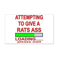 Attempting To Give A Rats Ass Wall Decal