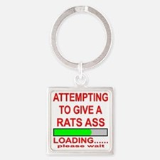 Attempting To Give A Rats Ass Square Keychain