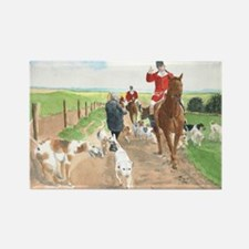 foxhunt card Rectangle Magnet