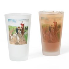 Foxhunt pillow Drinking Glass