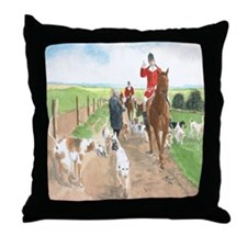 Foxhunt 3 Throw Pillow