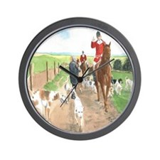Foxhunt 3 Wall Clock
