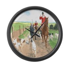 Foxhunt 3 Large Wall Clock