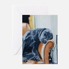 Sleeping Lab Greeting Cards