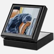 Sleeping Lab Keepsake Box