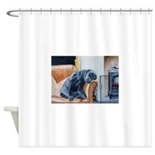 Sleeping Lab Shower Curtain