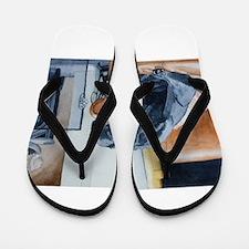 Sleeping Lab Flip Flops