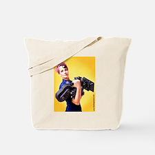 Jendra the Camerawoman Tote Bag