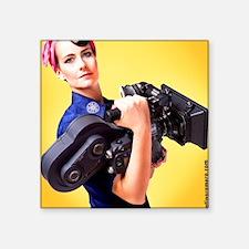 "Jendra the Camerawoman Square Sticker 3"" x 3"""