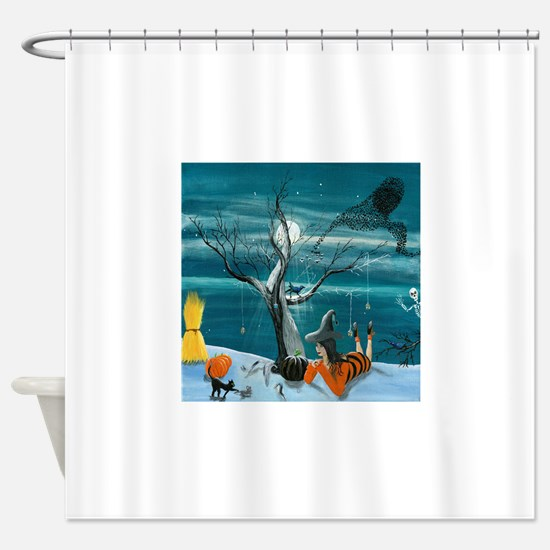 Morgana's Halloween Shower Curtain
