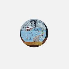 Snow Globe Mini Button