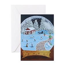 Snow Globe Greeting Cards