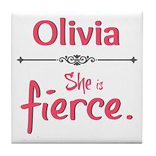Personal - She Is Fierce Tile Coaster
