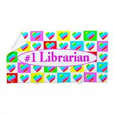 Librarian Love Beach Towel