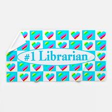Librarian Hearts Beach Towel