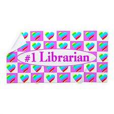 Sweet Librarian Beach Towel