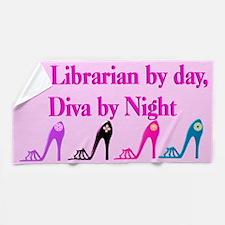 Librarian Diva Beach Towel