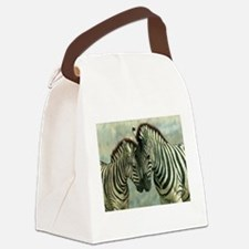 Zebras Canvas Lunch Bag