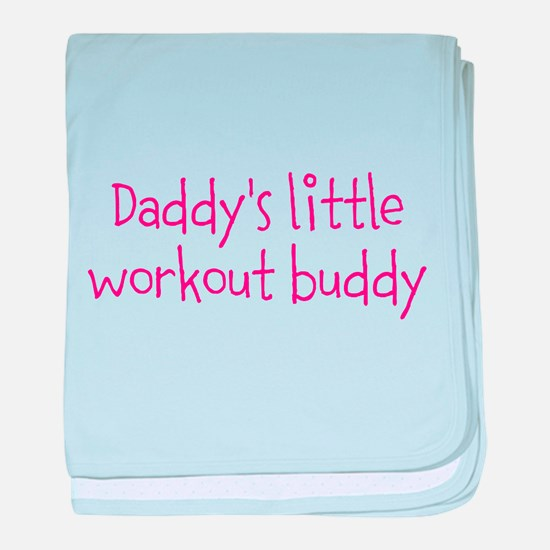 Daddys little workout buddy baby blanket