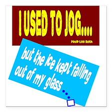 I Used To Jog-David Lee Roth/t-shirt Square Car Ma