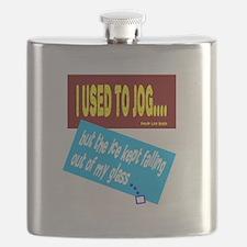 I Used To Jog-David Lee Roth/t-shirt Flask