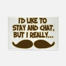 Funny Mustache Humor Rectangle Magnet