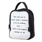 Make a Mistake Neoprene Lunch Bag