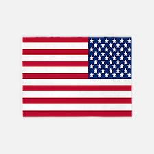Reversed USA Flag 5'X7' Area Rug