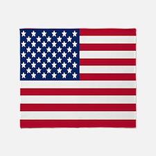 American Flag Stadium Throw Blanket