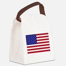 USA Flag Canvas Lunch Bag
