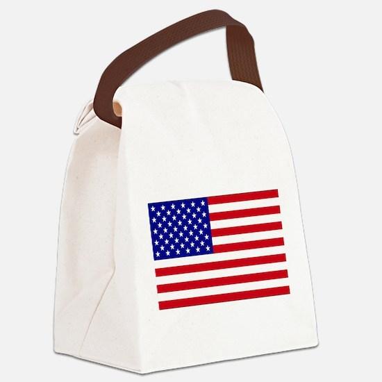USA Flag Canvas Lunch Bag