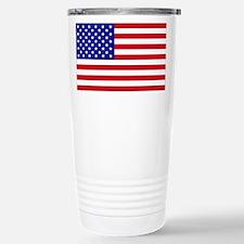 American Flag Thermos Mug